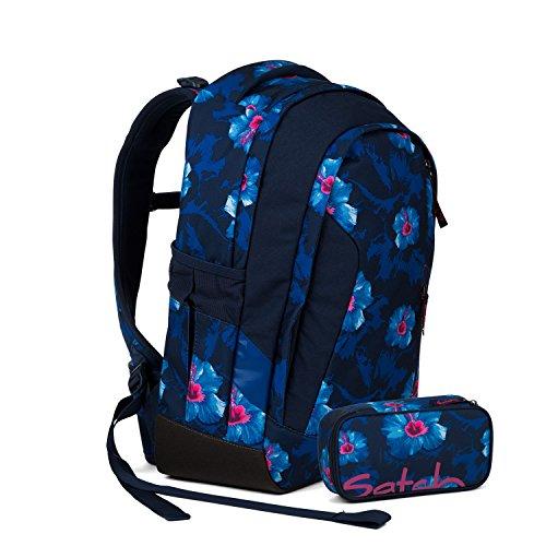 Satch Sleek Schulrucksack Set 2tlg. - Verschiedene Farben (Waikiki Blue) -