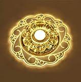 Kristall Deckenleuchte,Moderne LED Kristall Deckenleuchte,Kristall Deckenlampe Geeignet für den Einbau in Fluren, Vorraum, Küche, Bad, Schlafzimmer (Warm Color)