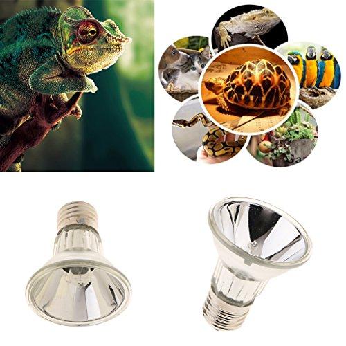 SM SunniMix E27 Vollspektrum-Tageslichtlampe UVA UVB Glühbirne für Reptilien und Amphibien - Silber, 25W