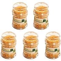 BESTONZON Palillos de Dientes de Bambú 5 Piezas