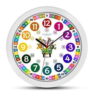 Cander Berlin MNU 1130 Kinderwanduhr (Ø) 30,5 cm Kinder Wanduhr mit lautlosem Uhrenwerk und farbenfrohem Design…
