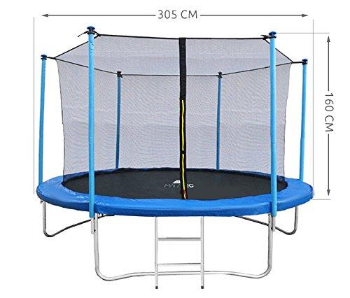 MALATEC Sicherheitsnetz für Trampoline - Fangnetz - Ersatznetz - 183 cm bis 427 cm für 6 bis 8 Stangen - Netz Innenliegend 2224, Größe:305 cm/ 6 Stangen