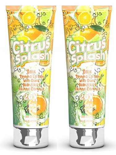 2 X FIESTA SUN CITRUS SPLASH 236ML SUNBED TANNING LOTION CREAM by PBI