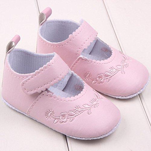 Etosell Bebe Fille PU Cuir Princesse Chaussures 12M U13 Rose