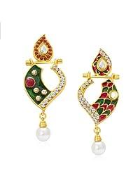Sukkhi Fabulous Gold Plated AD Reversible Earring For Women