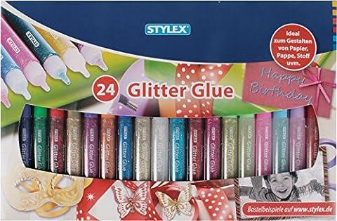 Stylex - 2051433 - Colle Scintillante - 3d Tubes - 10 G - 24 Pièces - 10 Glue