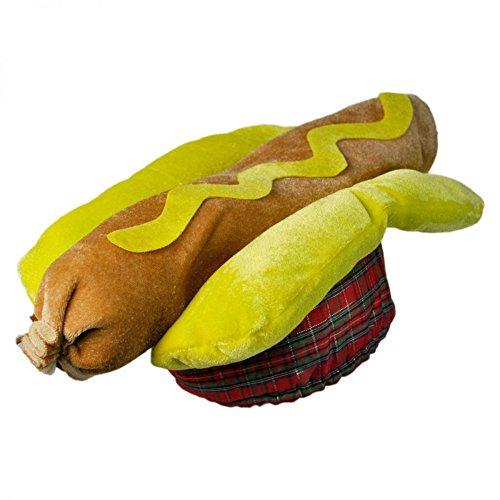 Hot Dog Hat Kostüm Frankfurter Hotdog Wurst Bun Weiner Cap, lebensmittelecht, Grill