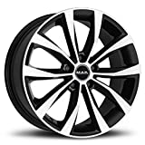 RUOTE CERCHI IN LEGA AUTO MAK CERCHIONE WOLF BLACK MIRROR 17' 5x114,3 DA 17 POLLICI