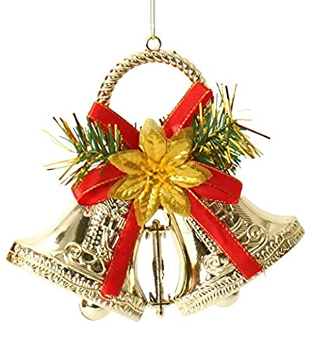 EOZY Home Hanging Double Christmas Bells Trees Window Decoration Party Ornaments Pendants Gifts