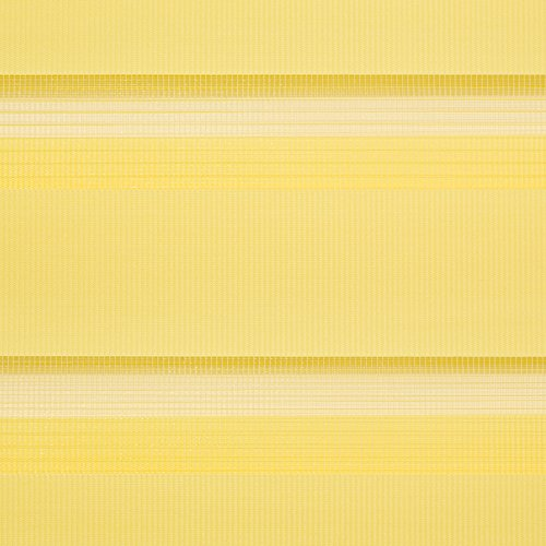 Lichtblick Duo-Rollo Klemmfix, 80 cm x 150 cm (B x L) in Gelb, ohne Bohren, Doppelrollo für Fenster & Türen, moderner Sichtschutz, innovative Kombination aus Rollo & Jalousie - 4