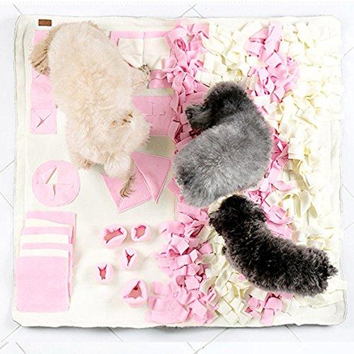 Acacia Bird Pet Sniffing Pad Hund Riechen Matte Futtering Training Decke - Beige L (Halloween-aktivitäten Arbeit Für Die)