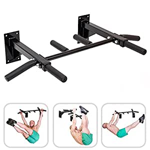 barre de traction fixation murale six poign es pour des exercices plus polyvalents avec. Black Bedroom Furniture Sets. Home Design Ideas