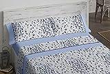 Burrito Blanco Juego de Sábanas 693 con Diseño de Formas Geométricas Irregulares que Recrean una Piel de Leopardo para Cama de Matrimonio de 135x190 hasta 135x200 cm/Juego de Cama 135, Color Azul