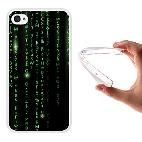 iPhone 4 iPhone 4S Hülle, WoowCase® [Hybrid] Handyhülle PC + Silikon für [ iPhone 4 iPhone 4S ] Husky-Hunde Sammlung Tier Designs Handytasche Handy Cover Case Schutzhülle - Transparent Housse Gel iPhone 4 iPhone 4S Transparent D0562