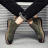 Shukun Herren Stiefel Spring Martin Stiefel Herren Pu Booties Herren Chelsea Boots Set Fuß zu helfen Freizeitschuhe, 42, grün