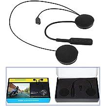 KOBWA Auriculares Bluetooth con micrófono para Casco de Moto, Motocicleta Smart Ear Auriculares, Diseño