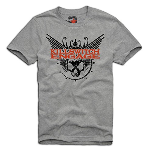 E1SYNDICATE KILLSWITCH ENGAGE T-SHIRT AVENGED TRIVIUM IN FLAMES METAL S/M/L/XL GREY
