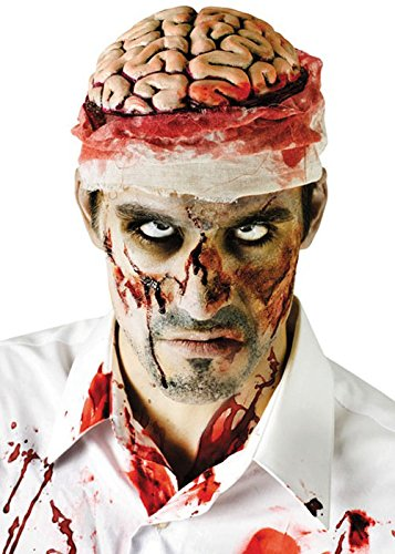 hirn Zombie Kopfstück (Zombie Gehirn Kopfbedeckung Erwachsene)