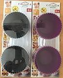 Casa Linga Back-und Muffinförmchen aus Silikon Schwarz 6 Stück Muffin Form Backform Cupcake MuffinförmchenNeu