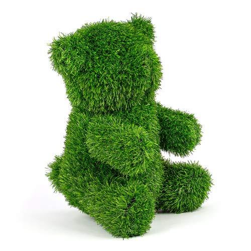Kögler Grasfigur Bär, AniPlants, Gartendekoration inkl. Befestigungsstifte, Dekofigur Kunstrasen, wetterfest, Höhe 35cm