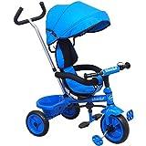 Baby-pur Dreirad Kinderdreirad Tricycle mit Schubstange und Sonnendach, zum schieben und lenken