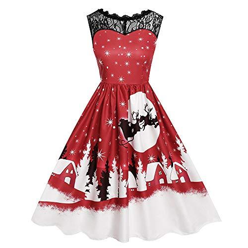 TEBAISE Kleider Damen Kleid Brautjungfernkleid Petticoat Lange Kleid Sommer Herbst Jumpsuit...