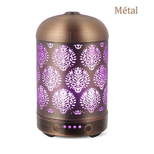 ffusor aromatherapie Diffuser mit 4 Zeiteinstellung & 7 Farbwechsel Licht Aroma luftbefeuchter Cool Mist Luftbefeuchter für Haus Büro und SPA (Bronze 2) ()
