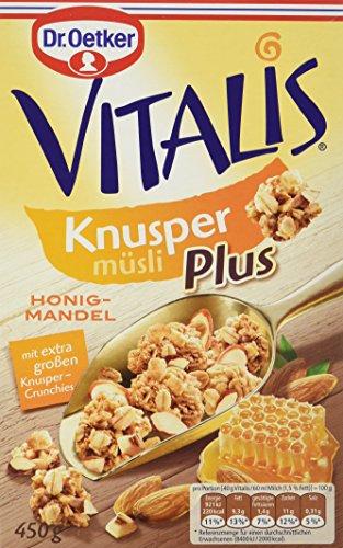 Dr. Oetker Vitalis Knusper Plus Honig-Mandel, 7er Pack (7x 450 g) (Honig Cornflakes)