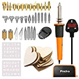 Wood Iron Kit, Preciva 37 Pieces Soldering Iron Kit, Multifunctional Pyrography Kit