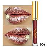 Cebbay Rouge À Lèvres, Femmes Magic Glitter Flip Pull Mat Pearl Pearl Gloss Brillant CLU Lipstick 10 Couleur