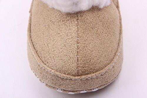 Weich Madchen Bow Knit Stiefel Y252 xhorizon Winter Schuhe Baby Woll Kids TM Warm khaki Geschenk Kleinkind FLX ExXXqwCz