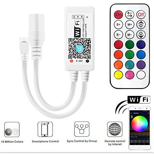 Contrôleur de bande RGB Led, Contrôleur de bande RF Led avec télécommande 21 touches Google...
