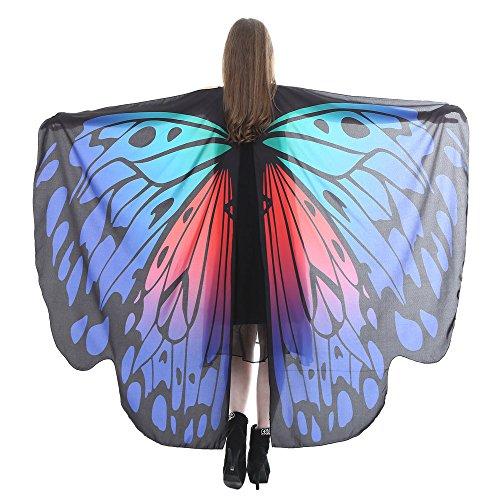 TIFIY Schmetterlings-Flügel-Schal Damen-Halloween-Schmetterlings-Tanz CostumeParty Cosplay Schals-Kostüm-Zusatz vertuschen Kleidung 168 * 135CM (Peter-pan-kostüme Männer Für)