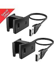 CAVN Fitbit Charge 2 Chargeur (2 Paquets), Remplacement USB Câble de Chargement pour Frais Fitbit HR 2 Smart Fitness Tracker