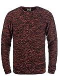 Blend Batuso Herren Strickpullover Feinstrick Pullover Mit Rundhals Und Melierung Aus 100% Baumwolle, Größe:L, Farbe:Cranberry Red (73815)