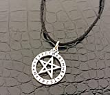Rune Pentagram Pentac Star Amulet Pewter Pendant