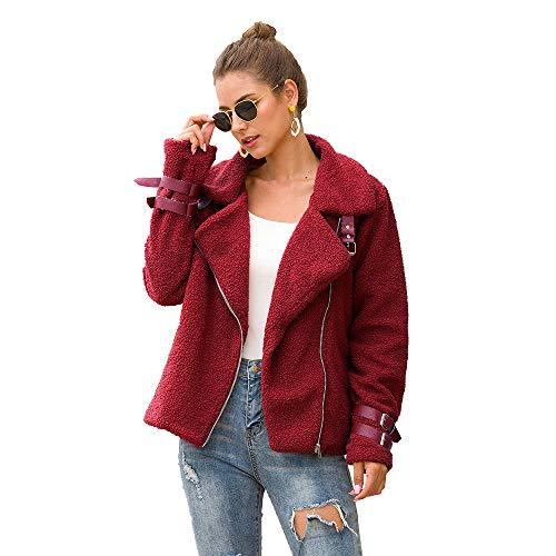 Chaquetones Mujer Abrigo Teddy Abrigos de Otoño Invierno Jersey Chaqueta Cálido Top Coat...
