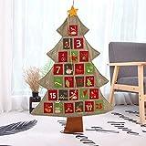 ginkago Adventskalender zum Befüllen, 24 Stoffsäckchen zum Selbstbefüllen und Aufhängen Jutesäckchen Stoffbeutel Tüten, 90cm