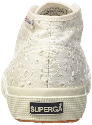 Superga 2754-Sangallosatinw, Sneaker a Collo Alto Donna Bianco