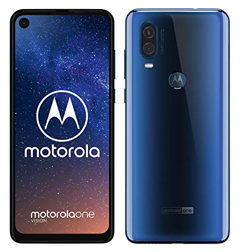 "Motorola One Vision Dual SIM, 128GB, 48MP, Android 9 Pie, Display CinemaVision FHD+ da 6,3"", Blu (Sapphire Blue)"