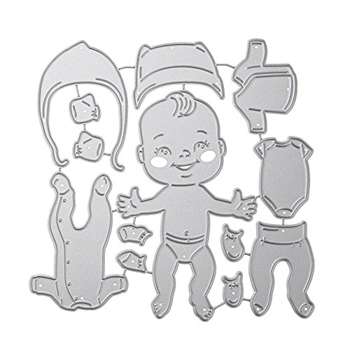 Stanzbögen, YouN Baby Kleidung Stanzformen Schablonen Sammelalbum Prägen DIY Craft Album Karte