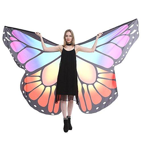 QIMANZI Schmetterling Kostüm Frauen Bauch Flügel Tanz Kostüm Schmetterling Flügel Tanz Zubehör Keine Sticks für - Audrey Hepburn Tanz Kostüm