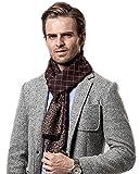 Bufanda de Hombre la tela escocesa cozy Abrigo Del Mantón cuello bufanda Regalos para Hombre (Café)