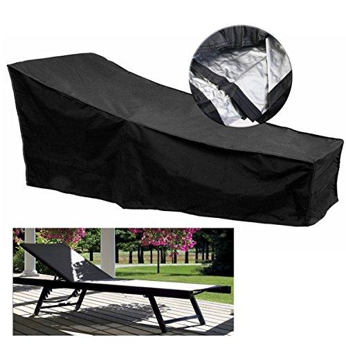 LaDicha 210X75X40Cm Lounge Chair Möbel Chaise Wasserdicht Abdeckung Für Außen Staubschutz Patio Lawn (Chaise-abdeckung)