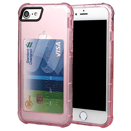 """xhorizon [Ultra Hybrid] [Air Cushion] Shock-Absorption Stoßfänger und Anti-Scratch Clear Zurück Ultra-schlanke Schutz-Clear Cover mit versteckten Card Slot für iPhone 7 [4.7""""] #5"""