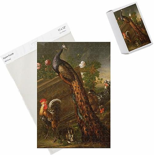 photo-jigsaw-puzzle-of-peacock-and-cockerels-17th-century