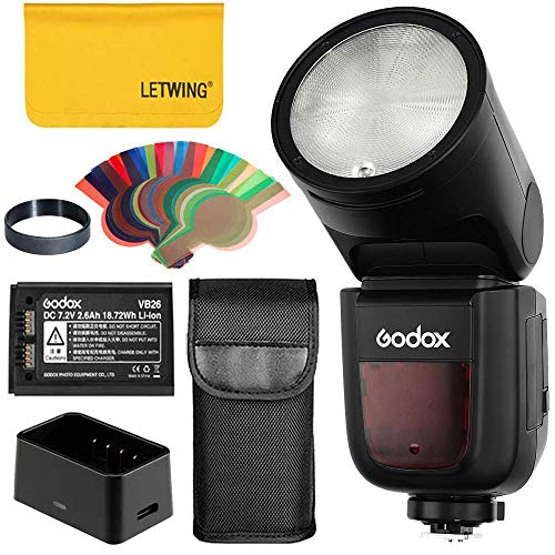 Godox V1-F TTL On-Kamera Runde Kamerablitz Blitzgerät kompatibel für Fuji-Kamera