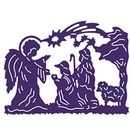 alloween Schneiden Schablonen DIY Sammelalbum Dekor Papier Karten, Metall Buchzeichen , Metall Lesezeichen als Geschenk fuer Freunde (F) (Glitter Happy Halloween)