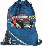 Stylex Schulstarter 3 teiliges Set bestehend aus Ranzen, Sportbeutel und Faulenzer, Design: Auto Geländewagen -
