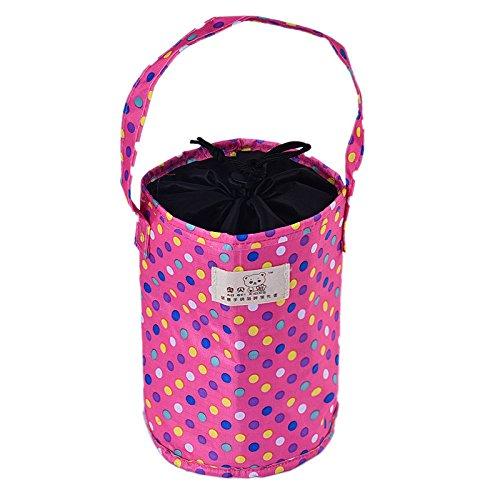 KonJin Solierte Lunch Tasche Cool Bag für Lunch Boxes Gestreiftes Wasserdichtes Gewebe Faltbare Picknick-Handtasche für Frauen, Erwachsene, Studenten und Kinder